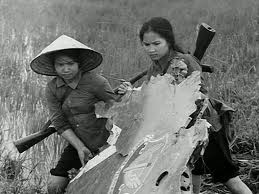 Vietnamese guerrillas -- the guerilla forces and the North Vietnamese Army together defeated the huge superpower the USA