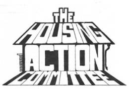 Logo of the Dublin Housing Action Committee which agitated and took direct action on housing issues in Dublin.  Sinn Féin had a strong presence in the campaign which survived the first split (out of which came Provisional SF) but did not survive long after the second split, out of which came the IRSP.