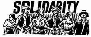 solidarity woodcut