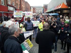 Moore St Paris Bakery closure protest Feb2014