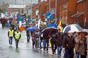 Section of the Anti-internment march in Belfast 10th August 2014