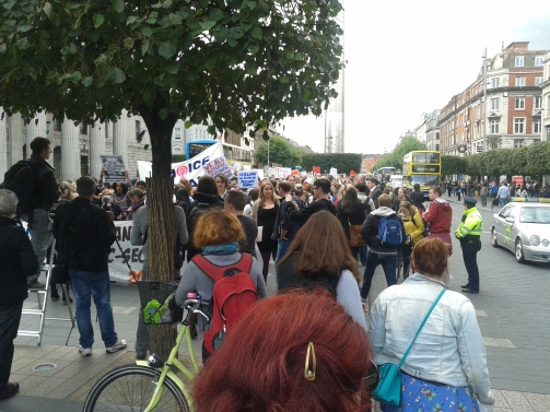 Protest Caesarian etc rally 20Aug2014