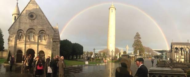 Glasnevin Cemetery Tower Rainbow