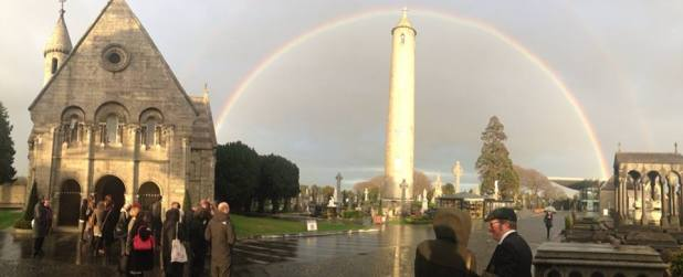 Glasnevin Cemetery Tower Rainbow