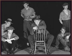 "Scene from the Musical Theatre production of Americana, which featured Warburg's song ""Brother Can You Lend Me a Dime?"""