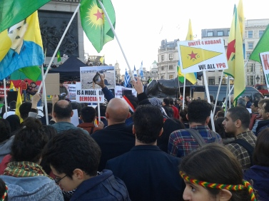 Kobane Rally near stage