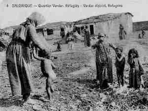 Civilian war refugees in Salonika, NW Greece, WWI