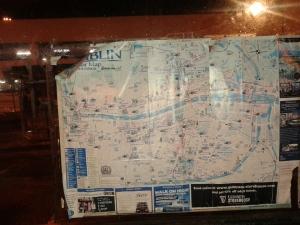 Tattered Dub tourist map bus shelter