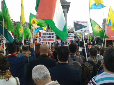 Turkish AKP=ISIS Kobane Rally