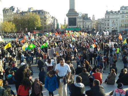 Wide view Koban Rally Trafalgar Square
