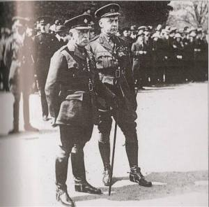Lord John French and General Macready, probably 1920
