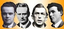 The Mountjoy Four executions by the Irish Free State in 1922 of one IRA Volunteer from each province.