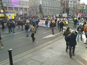 Dame St Start March V Repression Water Tax Protesters 21 Feb2015