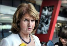 Joan Burton angry maybe