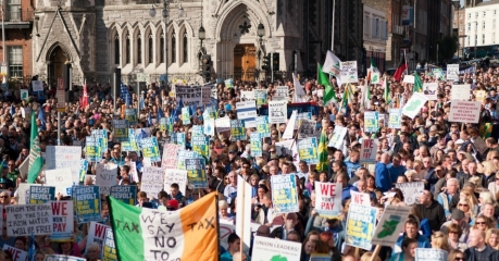 Water Tax Demo crowd