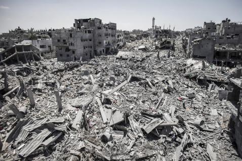 Part of Gaza after Israeli bombardment July 2014