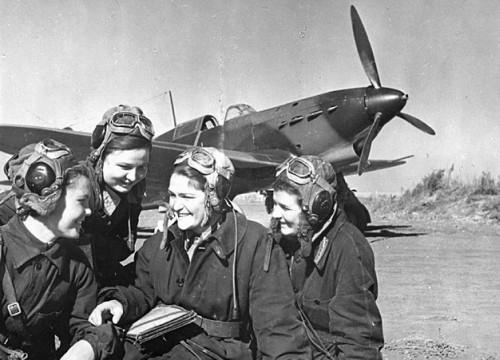 Soviet female combat pilots in WW2. The USSR was the only state to have female combat pilots.