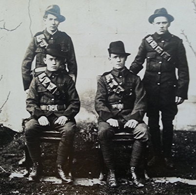 The four survivors of the Clanwilliam House garrison.