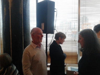 After the launch speeches -- (L-R) Padraig Yeates, Katherine O'Donnell, Caitriona Crowe.