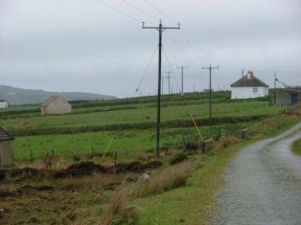 The rural area chosen by Shell for the pipe-laying (planned to run between both houses in the photo)