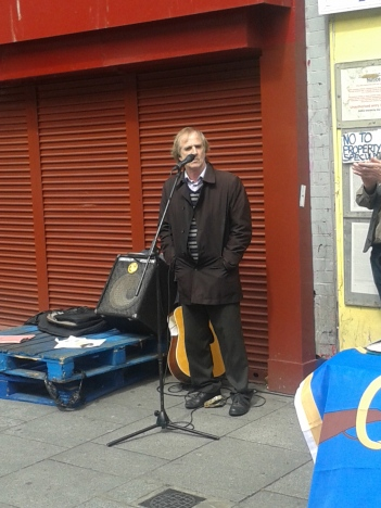 Jim Connolly Heron, great grandson of James Connolly and a long-time campaigner about Moore St.