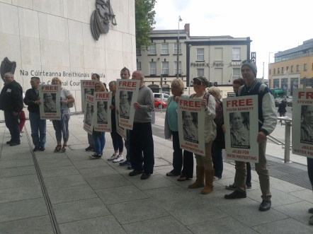 Some of the supporters outside the Dublin Court today