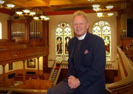 The Rev. David Latimer, photographed in church
