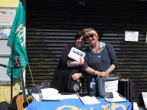 Bróna Uí Loing and Vivienne Lee, members of the campaigning group