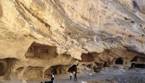 Some of the caves at the Hasankeyf site