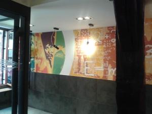 Entrance wall mural