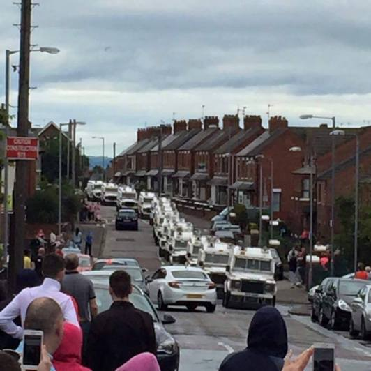 Part of the PSNI invasion of the area