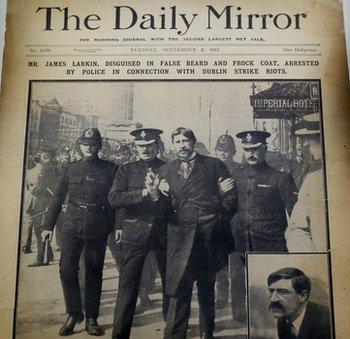 Daily Mirror Arrest Larkin photo