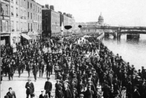 Funeral of James Byrne, who died as a result of his imprisonment during the 1913 Lockout