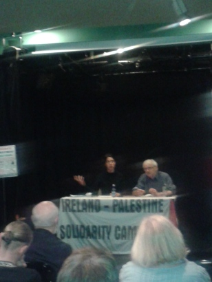 Riya Hassan, BDS Europe Coordinator with Martin O'Quigley, Chairperson IPSC and who chaired the meeting