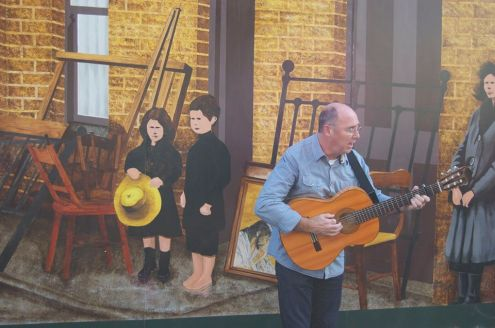Paul OBrien Merchants Road Mural playing