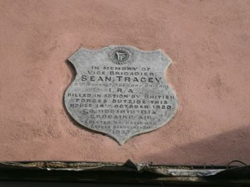 Sean Treacy Plaque Talbot Street. (Photo from Internet)
