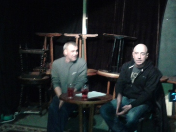 Darren Kelly and Derek Molyneux presenting their talk at the Cobblestone
