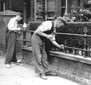 Removing Railings WWII