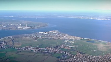 Aerial view of the Thames Estuary -- was this the final destination of the railings?