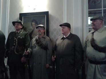 Volunteers in various outfits