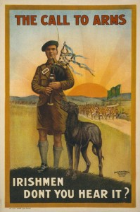British Army recruitment poster aimed at Irish men