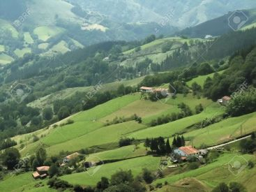"Pyrenean landscape in Iparralde (""the northern country""), the part of the Basque Country ruled by France."