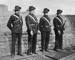Irish Citizen Army on the roof of Liberty Hall during a flag-raising activity (Photo sourced from Internet)