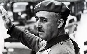 General Franco giving a fascist salute