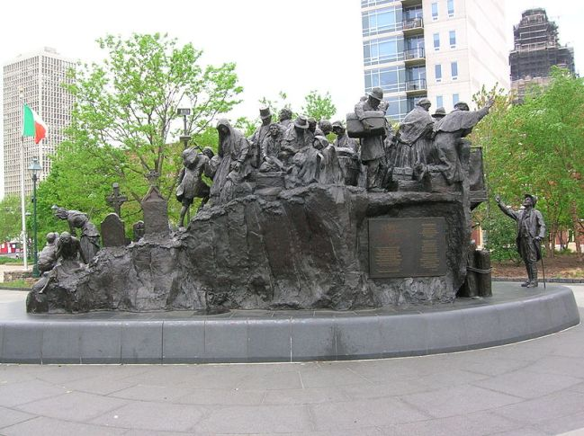 """Irish Famine Memorial/ Leacht Cuimneacháin na nGael"" in Philadelphia. USA (Photo from Internet)"