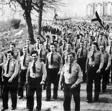 Blueshirts marching, 1930s (Photo sourced from Internet)