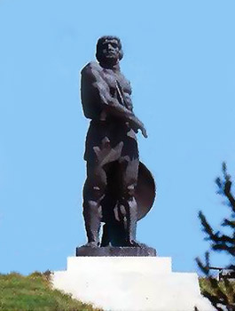 Statue in Bulgaria celebrating Spartacus, leader of the slave rebellion against Rome 72-71 BCE.