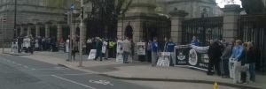 Long View Dail Picket Dublin 3