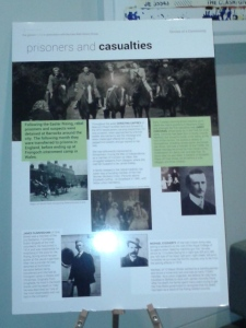 "Part of the ""Casualties and Prisoners"" panel exhibition in the Gibson Hotel"