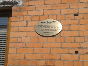 Walter Carpenter plaque